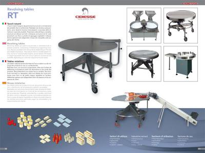 Revolving tables brochure - RT