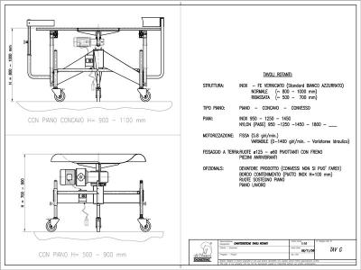 Revolving tables technical details