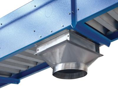 Detail of our bucket elevator for bulk products